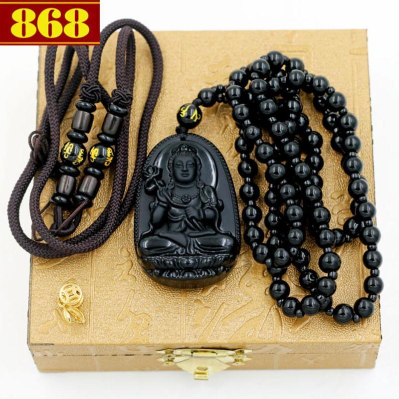 Vòng cổ Đại Thế Chí Bồ Tát 5cm + 2 dây, móc mạ vàng, hộp gỗ