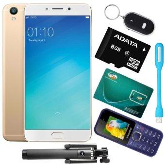 Bộ 1 OPPO F1s Ram 32GB (Vàng Đồng) + 1 Masstel A10 + 1 Sim Viettel + 1 Thẻ Nhớ 8GB + Gậy Chụp Hình + Đèn Led USB + Móc Khóa Thông Minh - Hãng Phân phối chính thức