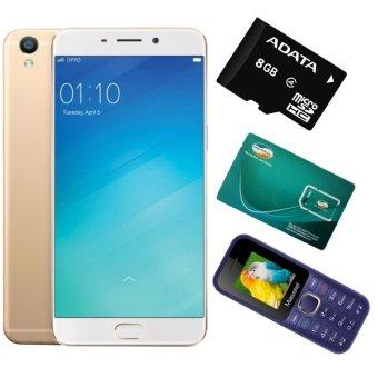 Bộ 1 OPPO F1s Ram 32GB (Vàng Đồng) + 1 Masstel A10 + 1 Sim Viettel + 1 Thẻ Nhớ 8GB (Hàng Chính Hăng)