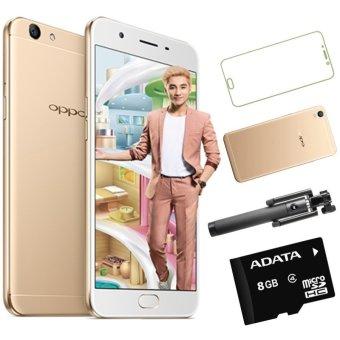 Bộ 1 OPPO F1s Ram 3GB-32GB (Vàng Đồng) + Ốp Lưng + Dán Cường Lực+ Gậy Chụp Hình + THẻ Nhớ 8GB - Hãng Phân phối chính thức
