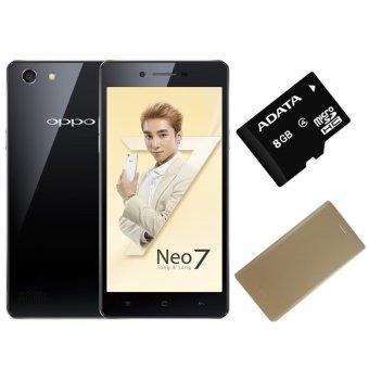 Bộ 1 OPPO Neo 7 16GB 2 SIM (Đen) + 1 Bao Da + 1 Thẻ Nhớ 8GB