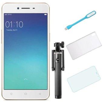 Bộ 1 OPPO Neo9_ A37 16GB (Vàng Đồng) + 1 Ốp lưng + 1 Dán cường lực + 1 Đèn Led USB + 1 Gậy chụp hình