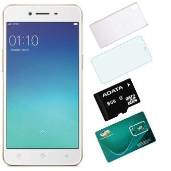 Bộ 1 OPPO Neo9_ A37 16GB (Vàng Hồng) + 1 Ốp Lưng + 1 Dán Cường Lực + 1 Sim Viettel+ 1 Thẻ Nhớ 8GB