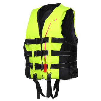 Life jacket vest fully enclose foam adult boating size xxl whistle