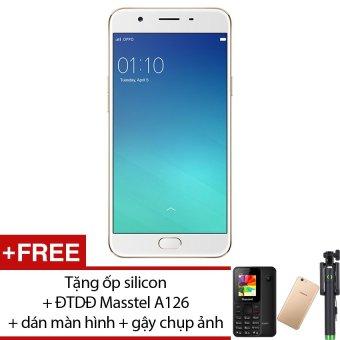 OPPO F1S 32G (Vàng hồng) – Hãng Phân phối chính thức + Tặng ốp silicon + ĐTDĐ Masstel A126 + miếng dán màn hình + gậy chụp ảnh