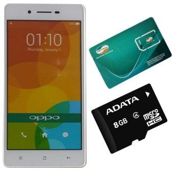 OPPO Neo 7 16GB 2 SIM (Trắng) - Hãng Phân phối chính thức + Thẻ Nhớ 8GB + Sim Viettel