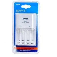 Sạc pin AA AAA Sanyo Eneloop NC-MQN04C (Trắng)