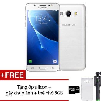 Samsung Galaxy J5 2016 16GB (Trắng) - Hàng nhập khẩu + Tặng ốp lưng silicon + gậy chụp ảnh + thẻ nhớ 8GB