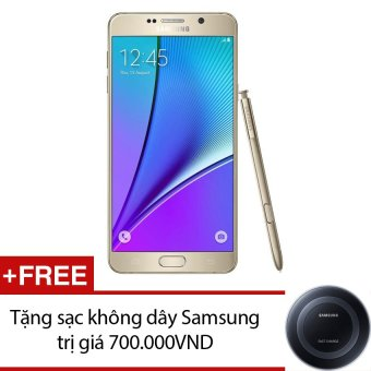 SamSung Galaxy Note 5 SM-N920 32GB Vàng - Hàng nhập khẩu + Tặng sạc không dây Samsung
