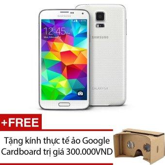SamSung Galaxy S5 SM-G900 16GB (Trắng) - Hàng nhập khẩu + Tặng 1 kính thực tế ảo Google Cardboard