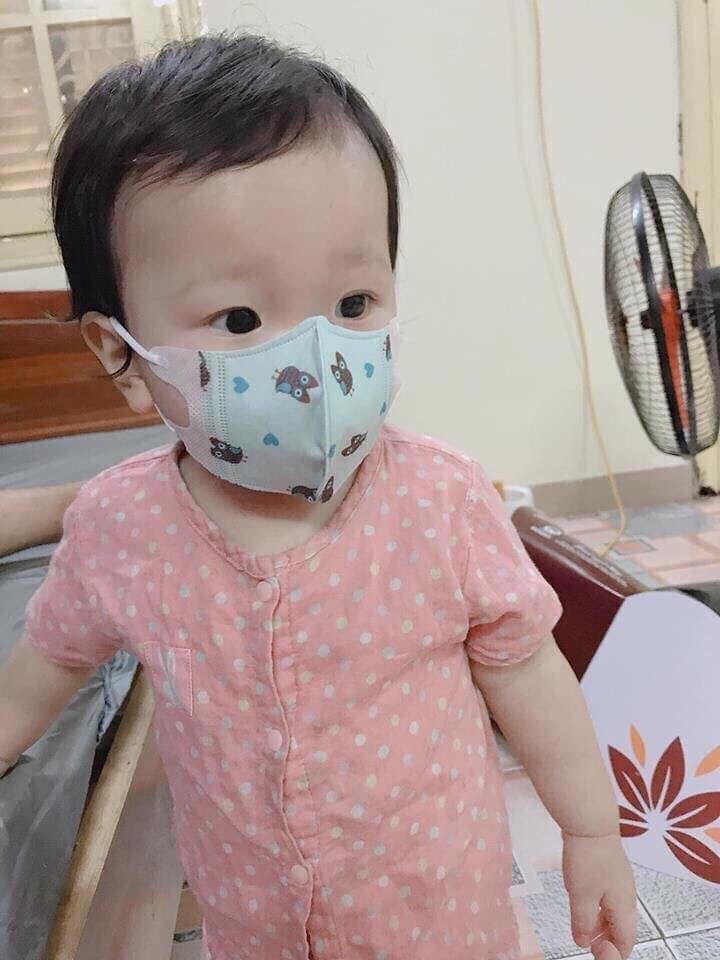 Khẩu trang kháng khuẩn cho bé ( set 5 cái ) Hồng