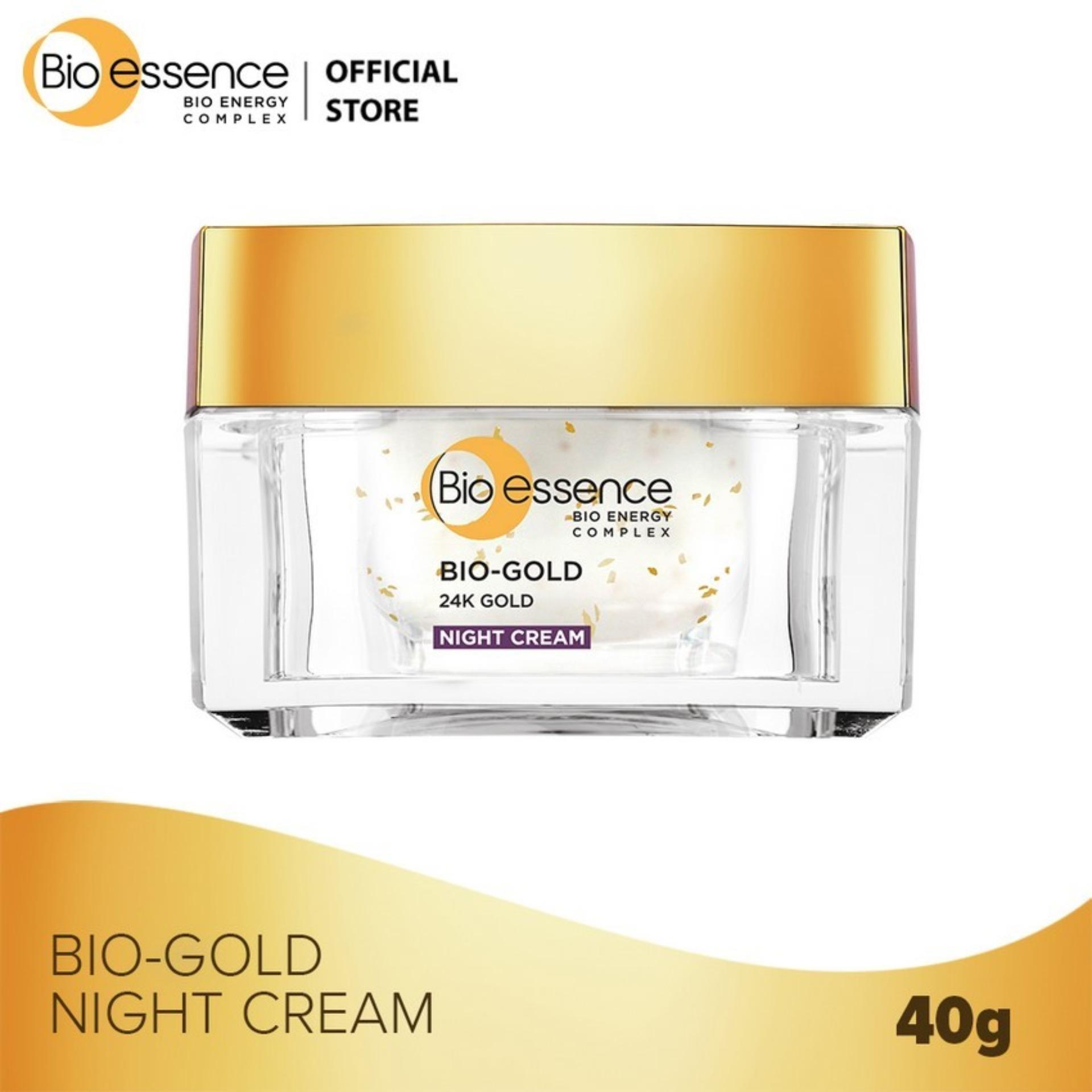 Hình ảnh Kem dưỡng ban đêm ngăn ngừa dấu hiệu lão hóa chiết xuất vàng sinh học 24K Bio-Gold Bio-essence 40g