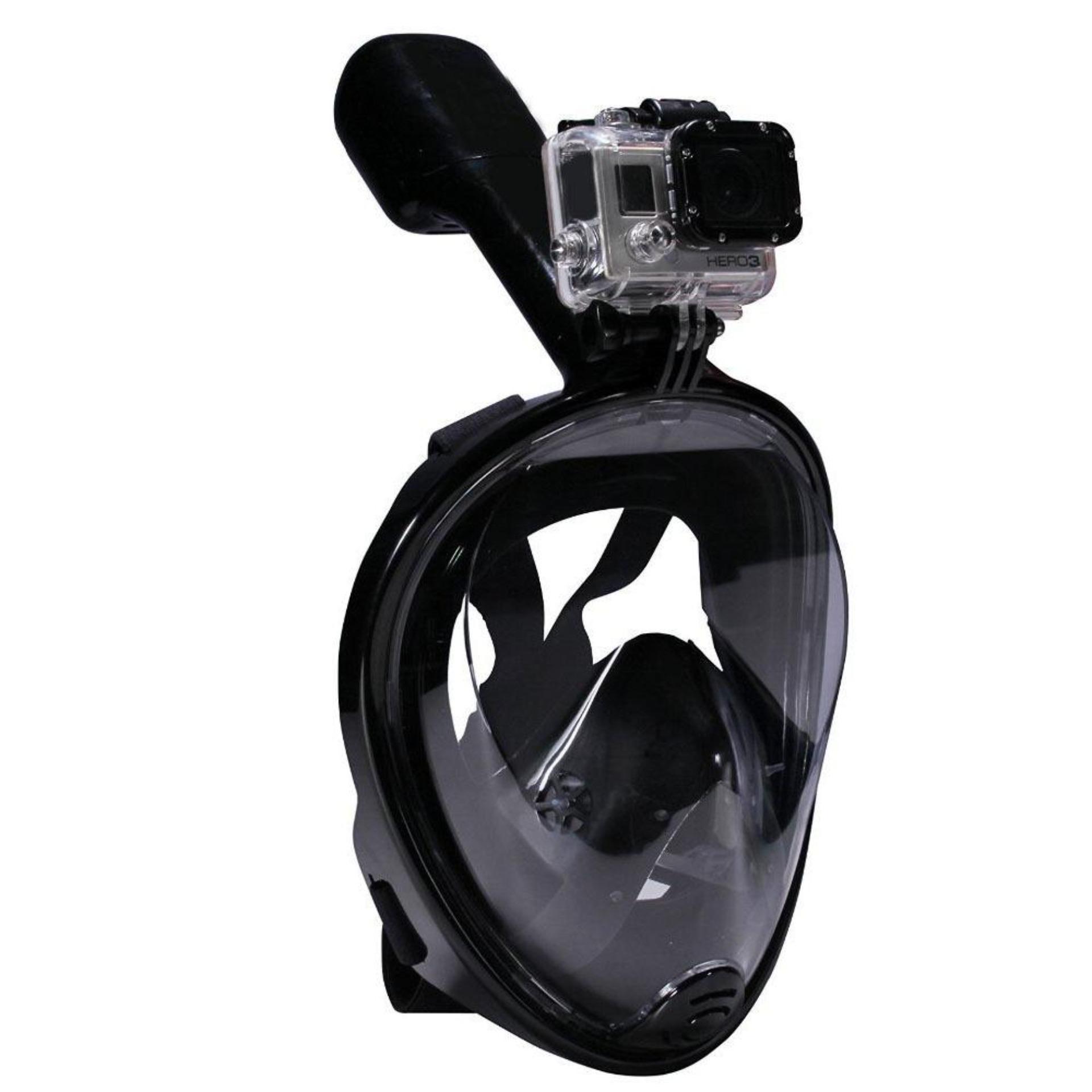 Hình ảnh Mặt nạ lặn Full Face Size L gắn được GOPRO, SJCAM tầm nhìn 180 độ, Ống thở gắn liền ngăn nước POPO Collection