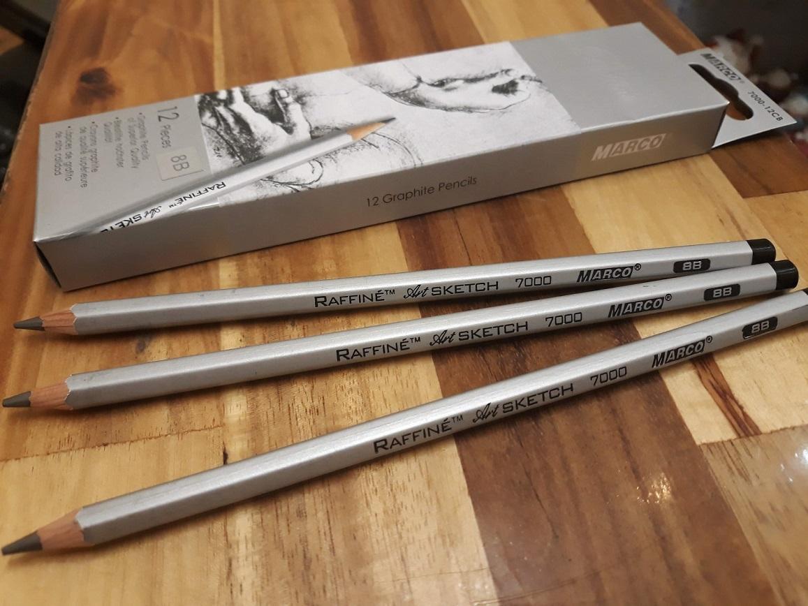 Mua Hộp 12 cây bút chì đen kỹ thuật Marco Raffine, 8B