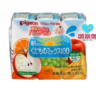 Vỉ 3 hộp nước ép Pigeon vị rau quả tổng hợp 13594 125ml x 3 thumbnail