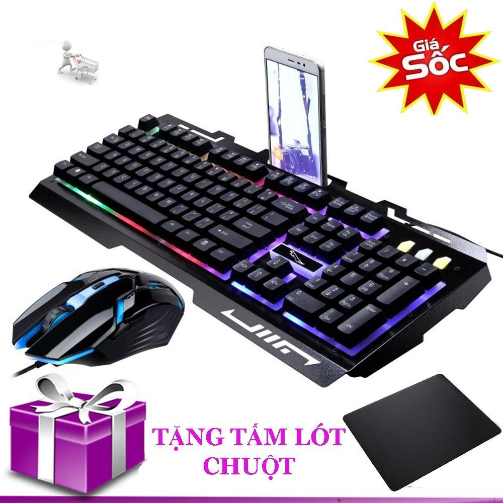 Hình ảnh Combo bàn phím và chuột có đèn LED giả cơ G700 tặng tấm lót chuột