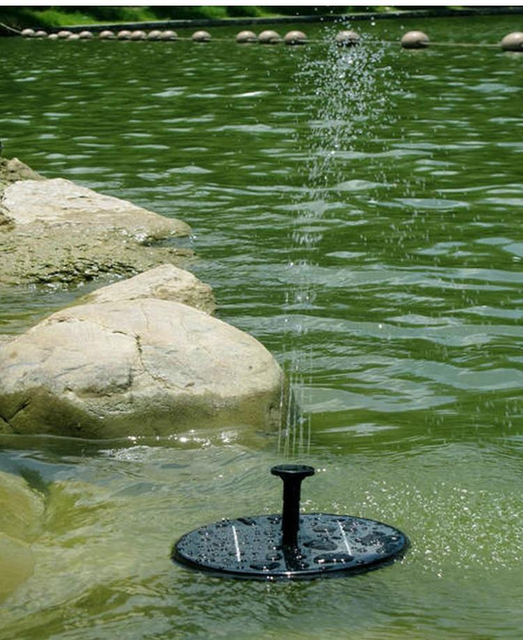 Hình ảnh Đài phun nước năng lượng mặt trời, trang trí sân vườn tiểu cảnh