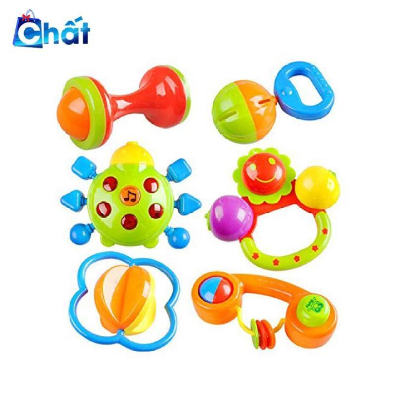 Bộ đồ chơi lúc lắc, xúc xắc 7 món cho bé