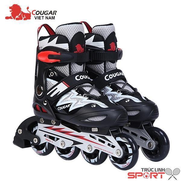 Giá bán Giầy trượt pati Cougar ghi đen size S(31-34 ), size M(33- 37), size L(37-42 )