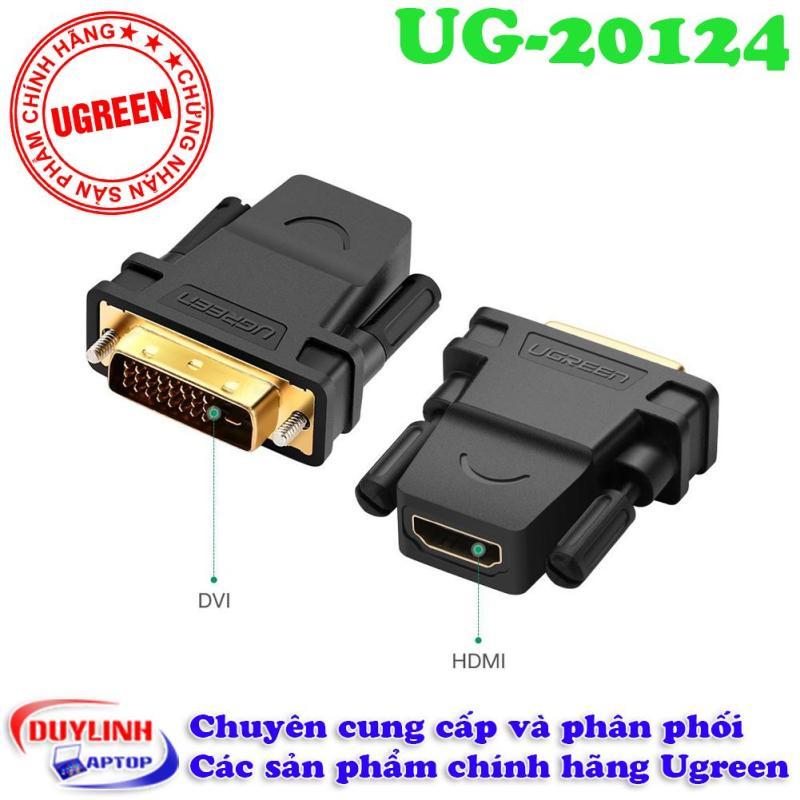 Bảng giá Đầu chuyển đổi DVI (24+1) sang HDMI (âm) Ugreen 20124  hãng Ugreen Phong Vũ