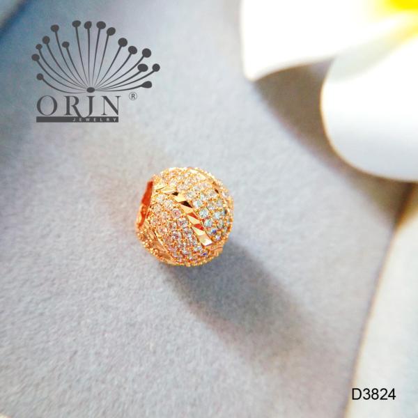 Mặt dây chuyền dạng charm tròn xoắn đính đá cao cấp Orin D3824