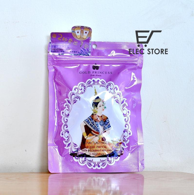 Miếng dán thải độc chân Gold Princess Thái Lan (Mỗi túi 10 miếng) Màu hồng cao cấp