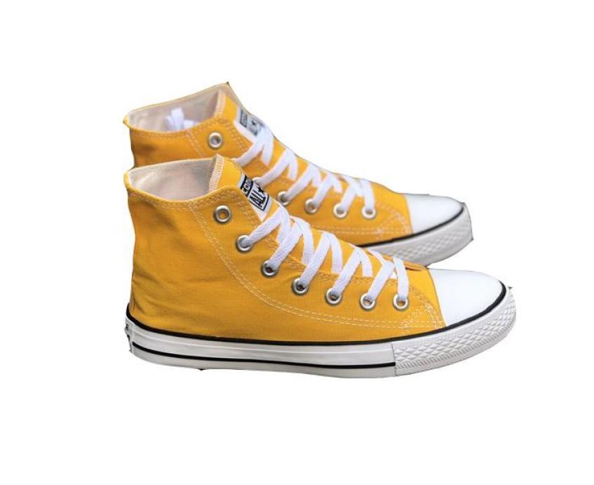 Giày cặp đôi cao cổ sneaker nam nữ màu vàng size 36-44 giá rẻ