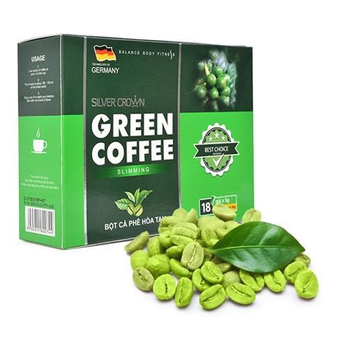 Cà phê giảm cân Green Coffee Slimming Silver Crown Hộp 18 gói x 5g nhập khẩu