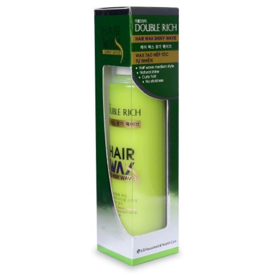 Wax Tạo Nếp Tóc Tự Nhiên Double Rich Hair Wax Shiny Wave 130ml