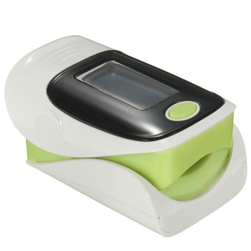 Finger Fingertip Blood Oxygen Meter SPO2 OLED Pulse Heart Rate Monitor Oximeter White+Green (Intl) - intl bán chạy