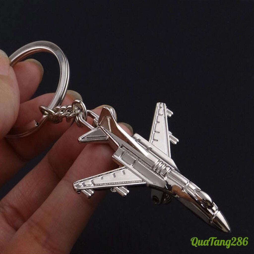 Móc chìa khóa hình máy bay cao cấp (mẫu 2), quà tặng độc đáo