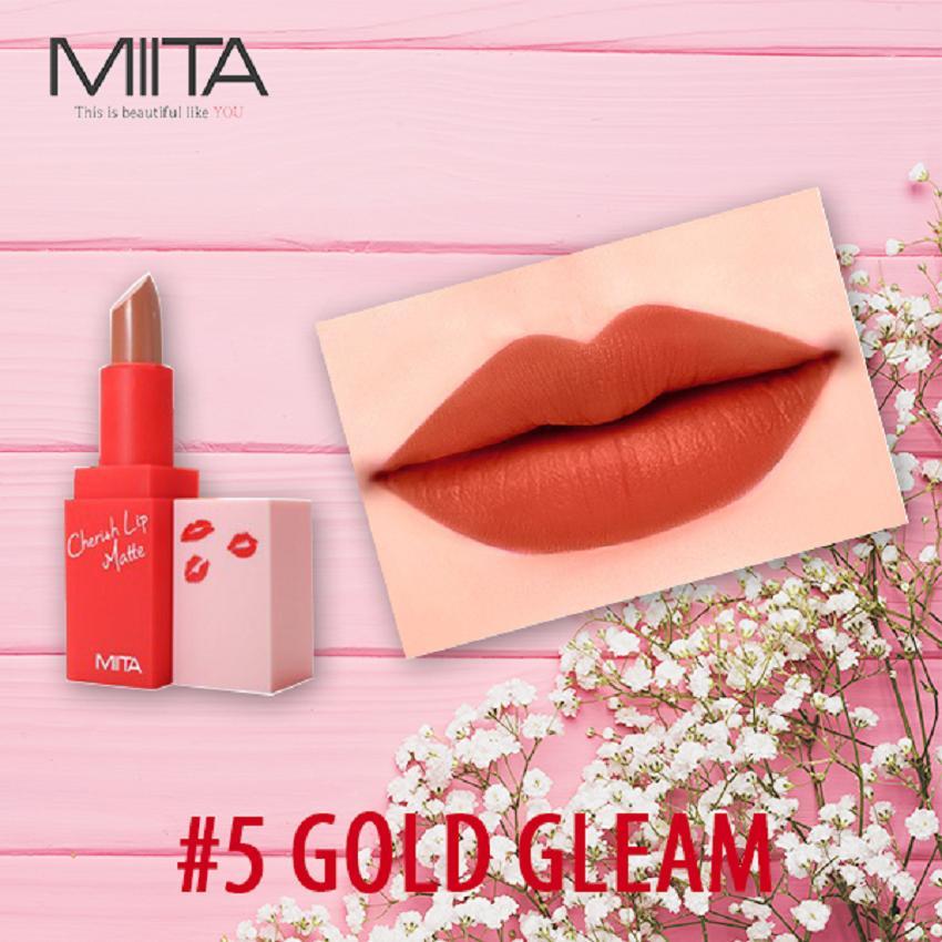 Giá Bán Son Thỏi Li Miita Cherrish Lip Matte Gold Gleam 05 Mau Cam Đất Miita