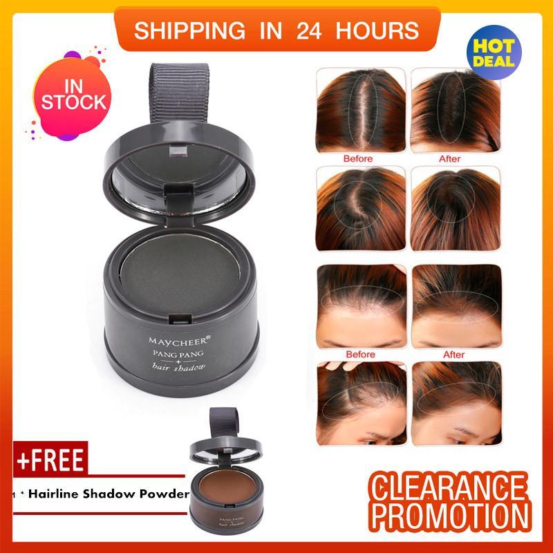 [Buy 1 Get 1 Free] HOT Forehead Curve Beautifying Hair Repair Powder Hairline Shadow Powder (4#) giá rẻ