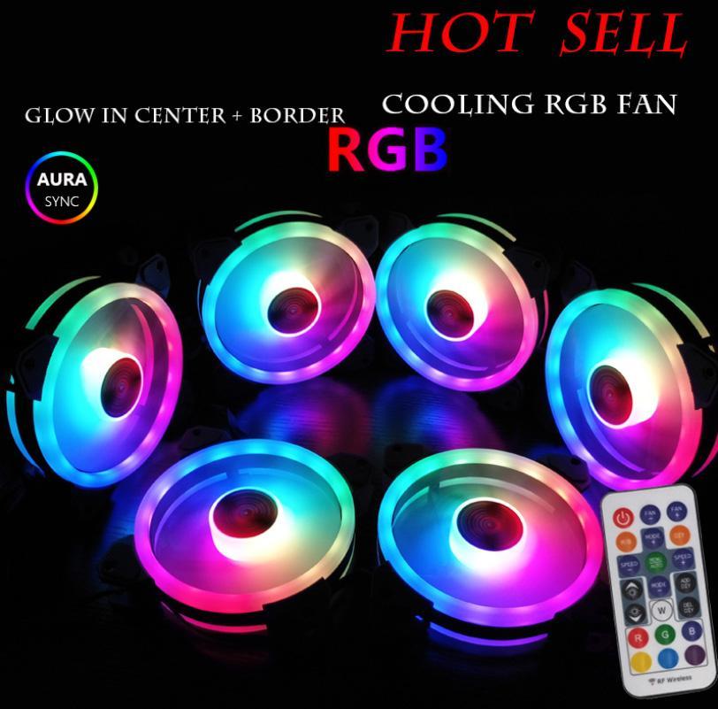 Giá Bộ 8 Quạt Tản Nhiệt, Fan Case Coolman Ver 4 - Led RGB Dual Ring + Led Rainbow (Kèm Bộ Hub Aura Sync)