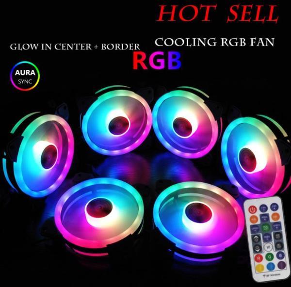 Bảng giá Bộ 6 Quạt Tản Nhiệt, Fan Case Coolman Ver 4 - Led RGB Dual Ring + Led Rainbow (Kèm Bộ Hub + Remote) Phong Vũ