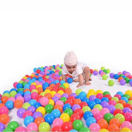 Hình ảnh Túi 100 Trái Bóng Nhựa 8 Màu Cho Bé