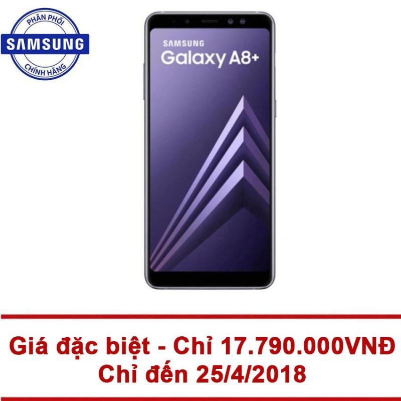 Samsung Galaxy A8+ 64Gb Ram 6Gb 6inch (Tím Xám) - Hãng phân phối chính thức