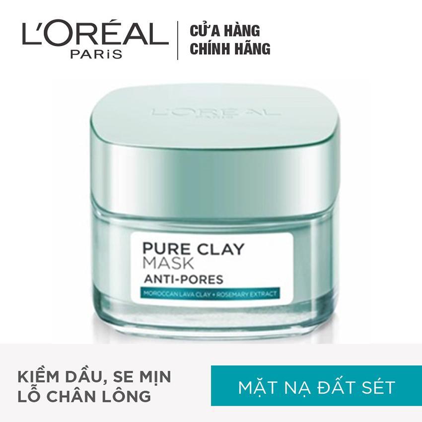 Hình ảnh Mặt nạ đất sét kiềm dầu se mịn lỗ chân lông L'Oreal Paris Pure Clay mask Anti pores