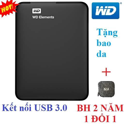 Ổ cứng di động 500Gb WD Elements (đen) - Hàng nhập khẩu