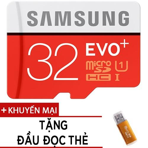 Thẻ nhớ MicroSDHC Samsung EVO Plus 32GB tốc độ 95MB/s tặng đầu đọc thẻ