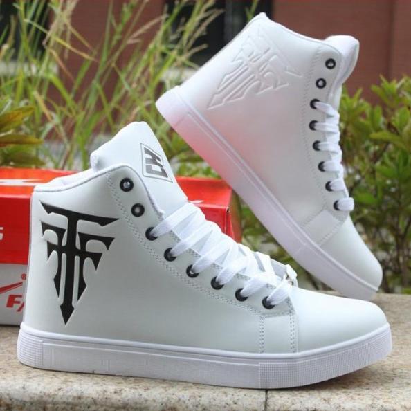 Giày bốt nam cổ ngắn GN12 - trắng giá rẻ
