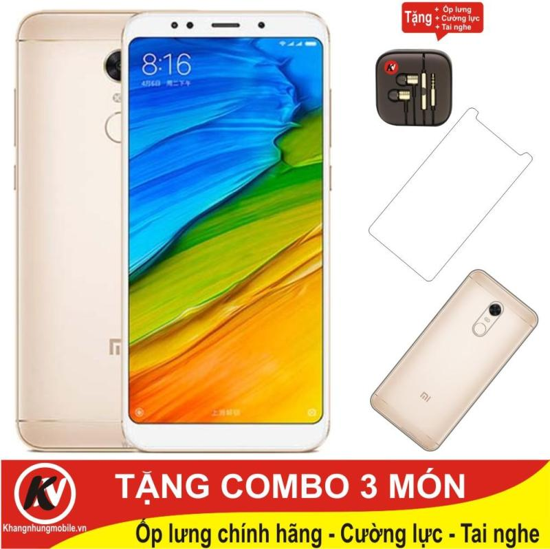 Xiaomi Redmi 5 Plus - 64GB Ram 4GB ( Vàng ) - Hàng Nhập Khẩu + Ốp lưng + Tai nghe nhét tai + Cường lực