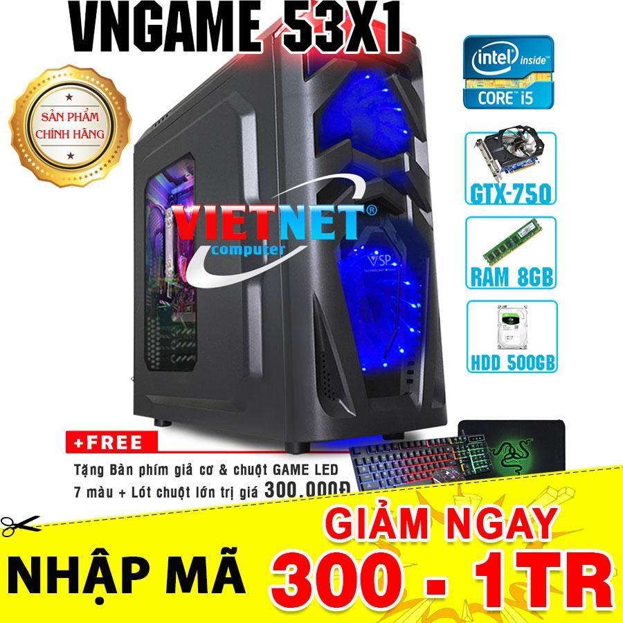 Hình ảnh Máy tính chơi game VNgame 53X1 core i5 3470 GTX750 8GB 500GB (chuyên LOL, GTA 5, Battelground, Overwatch)