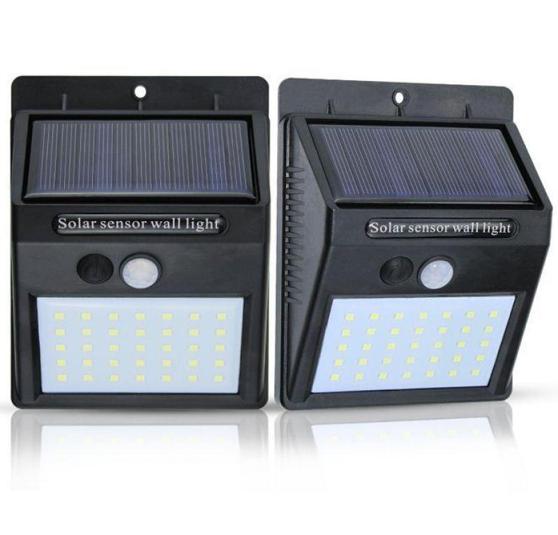 Bộ 2 Đèn năng lượng mặt trời Solar 35 LED 3 chế độ sáng (Đen)