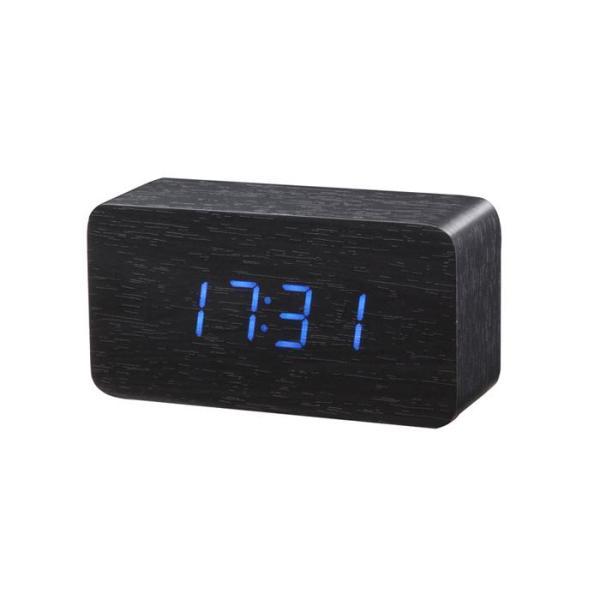 Đồng Hồ Gỗ Báo Thức Hình Chữ Nhật 1295 (Wood LED Digital Desk Alarm) Xanh Dương 7giftshop bán chạy