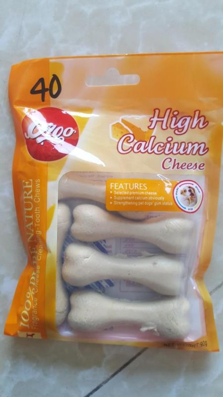 Xương gặm cho cún  bổ xung canxi cho cún túi 5 cục 90gr vị bơ