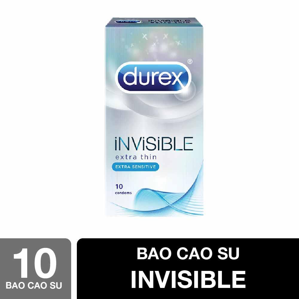 Hộp 10 Bao cao su Durex Invisible