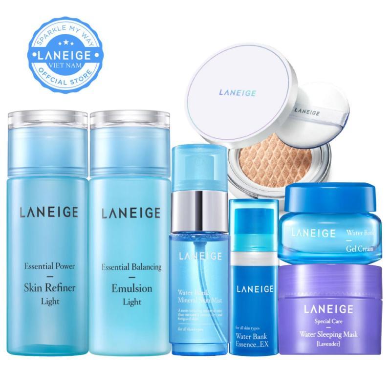 Combo trang điểm dưỡng ẩm dành cho da nhờn dầu Laneige Water Bank nhập khẩu