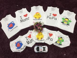 5 bộ chip quần áo trẻ em cho bé trai , gái 4-15kg thumbnail