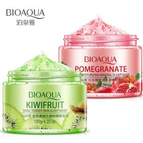 Mặt nạ ngủ Hoa quả Bioaqua trọng lượng 120g giúp tái tạo da ngăn ngừa lão hóa Giàu vitamin C giúp da trắng sáng